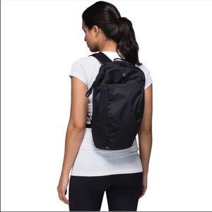 lululemon athletica run from work Black backpack